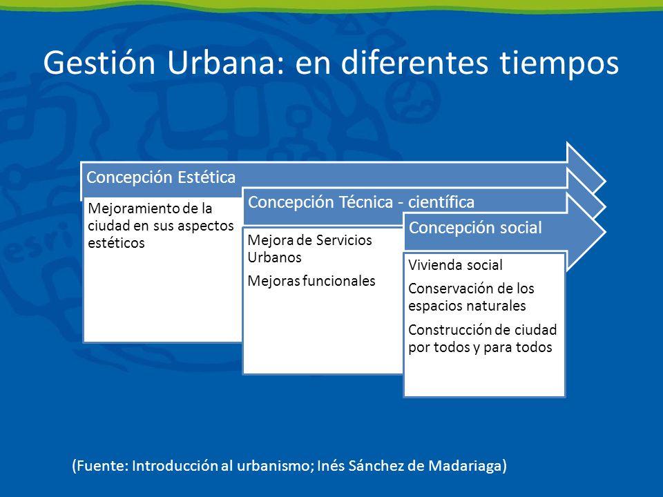 Gestión Urbana: en diferentes tiempos