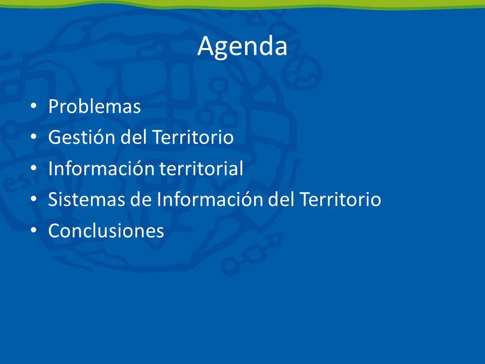 Agenda Problemas Gestión del Territorio Información territorial