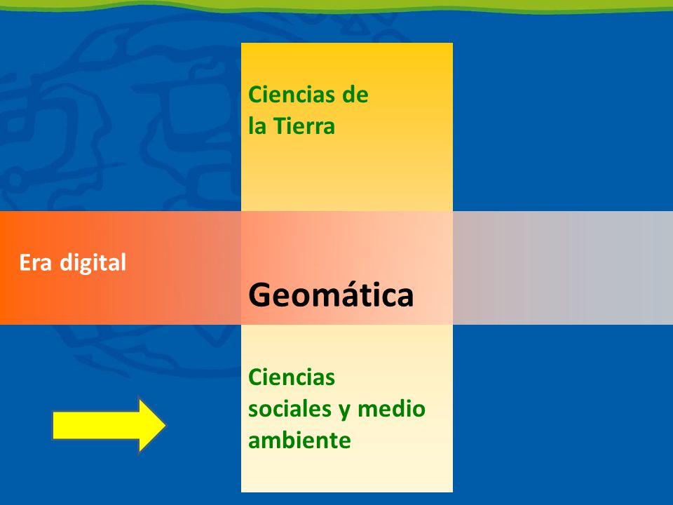 Geomática Ciencias de la Tierra Ciencias sociales y medio ambiente
