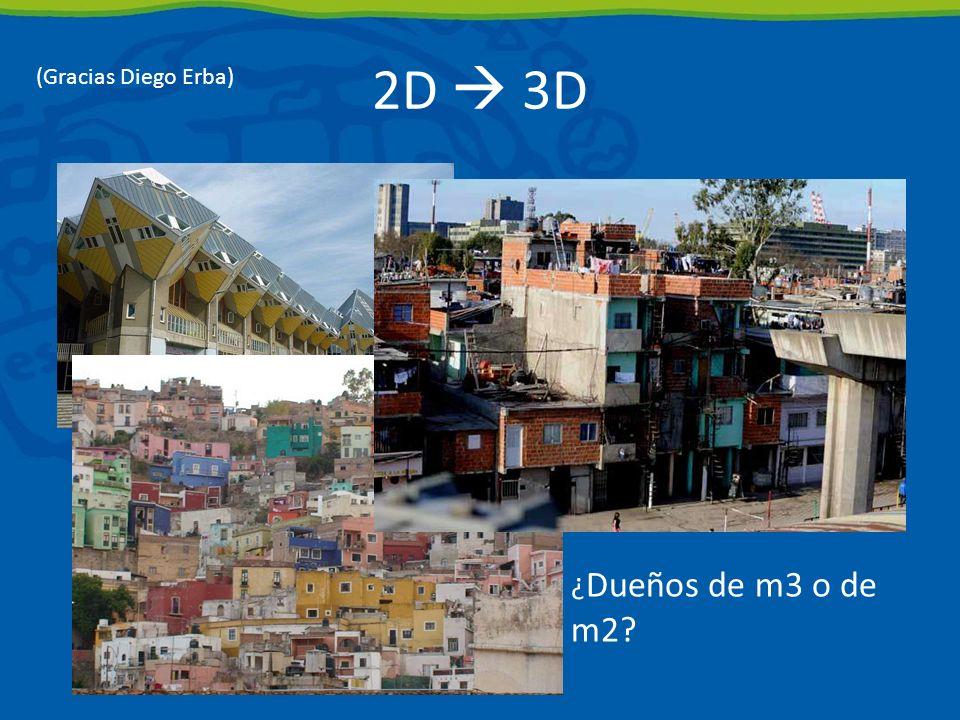 2D  3D (Gracias Diego Erba) ¿Dueños de m3 o de m2