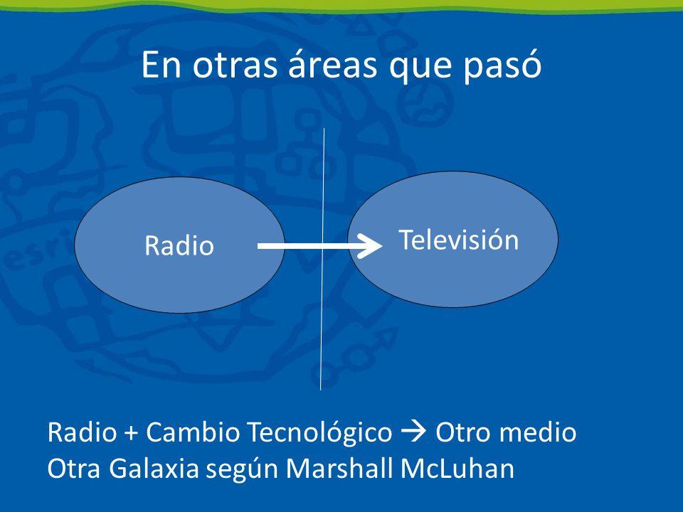En otras áreas que pasó Televisión Radio
