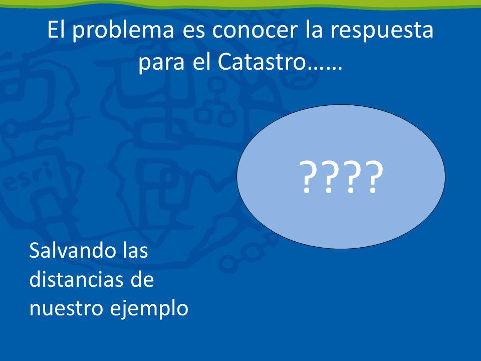 El problema es conocer la respuesta para el Catastro……