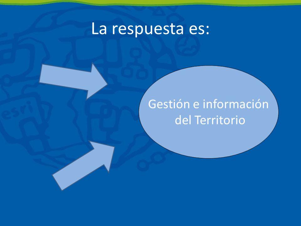 La respuesta es: Gestión e información del Territorio