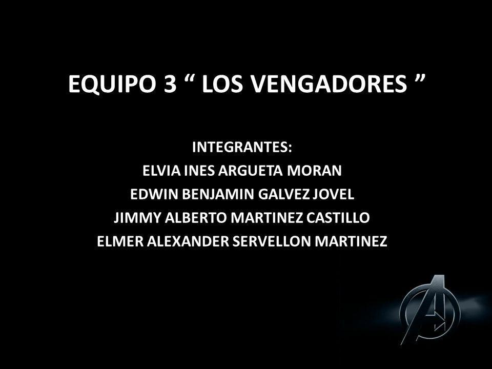 EQUIPO 3 LOS VENGADORES