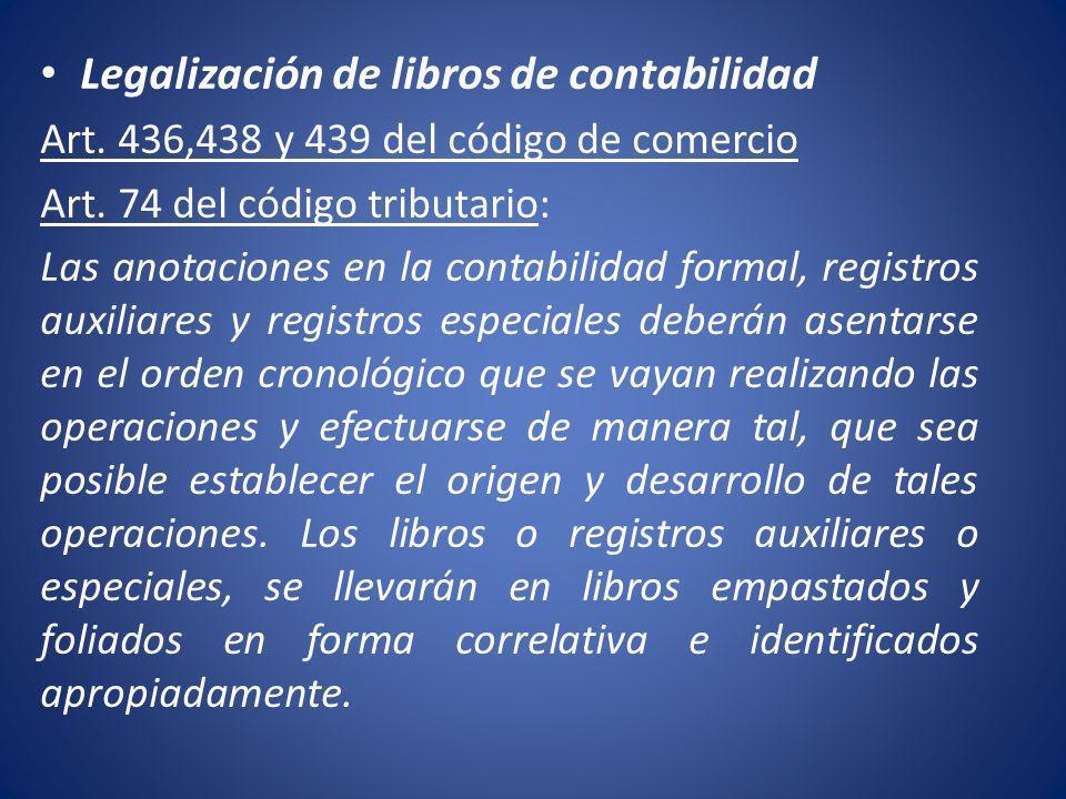 Legalización de libros de contabilidad