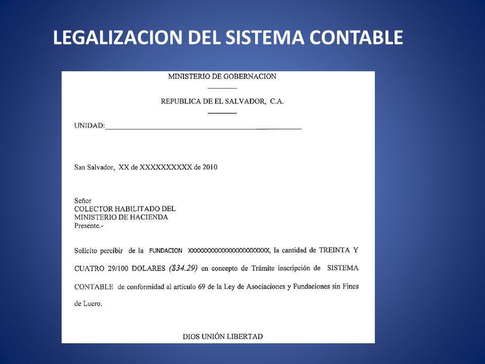 LEGALIZACION DEL SISTEMA CONTABLE