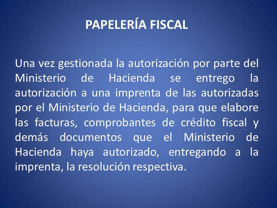 PAPELERÍA FISCAL