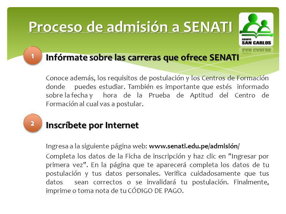 Proceso de admisión a SENATI