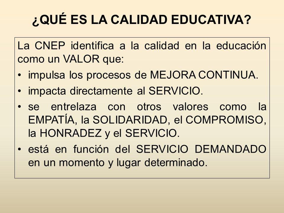 ¿QUÉ ES LA CALIDAD EDUCATIVA