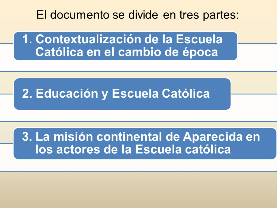 El documento se divide en tres partes: