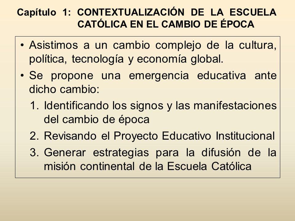 Se propone una emergencia educativa ante dicho cambio: