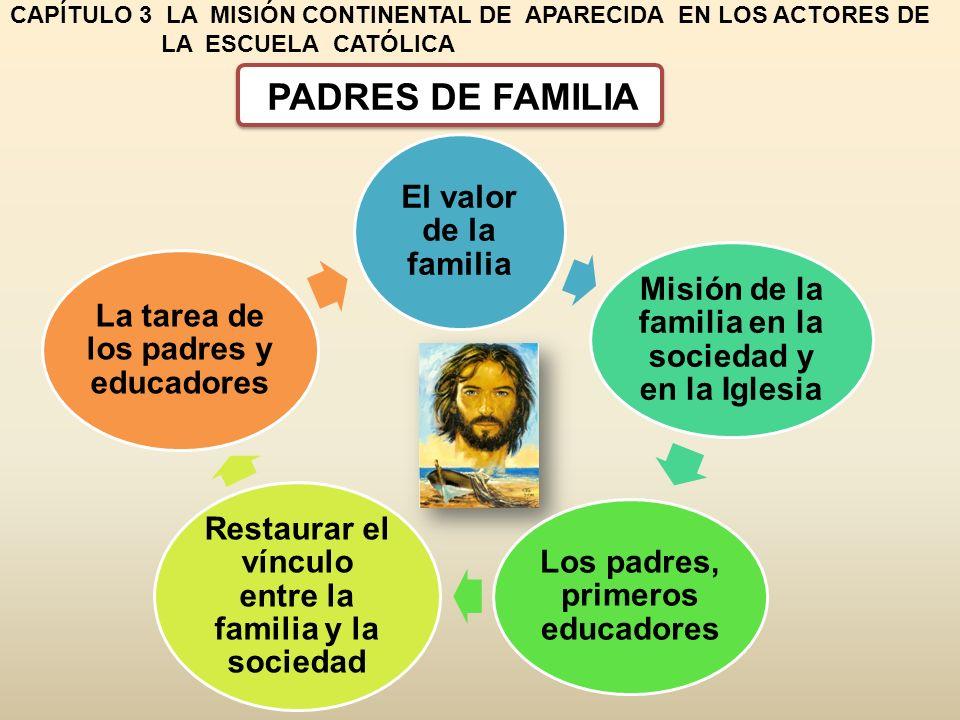 CAPÍTULO 3 LA MISIÓN CONTINENTAL DE APARECIDA EN LOS ACTORES DE LA ESCUELA CATÓLICA