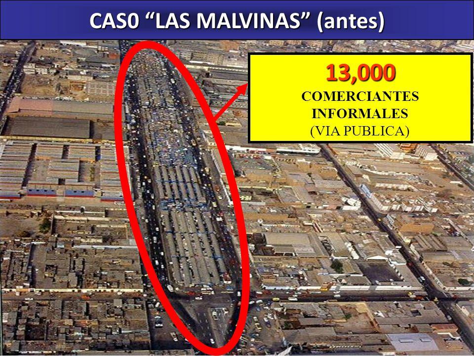 CAS0 LAS MALVINAS (antes) COMERCIANTES INFORMALES