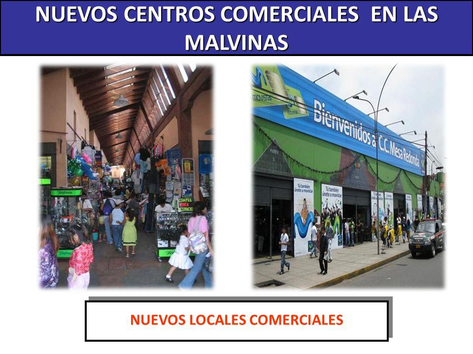 NUEVOS CENTROS COMERCIALES EN LAS MALVINAS NUEVOS LOCALES COMERCIALES