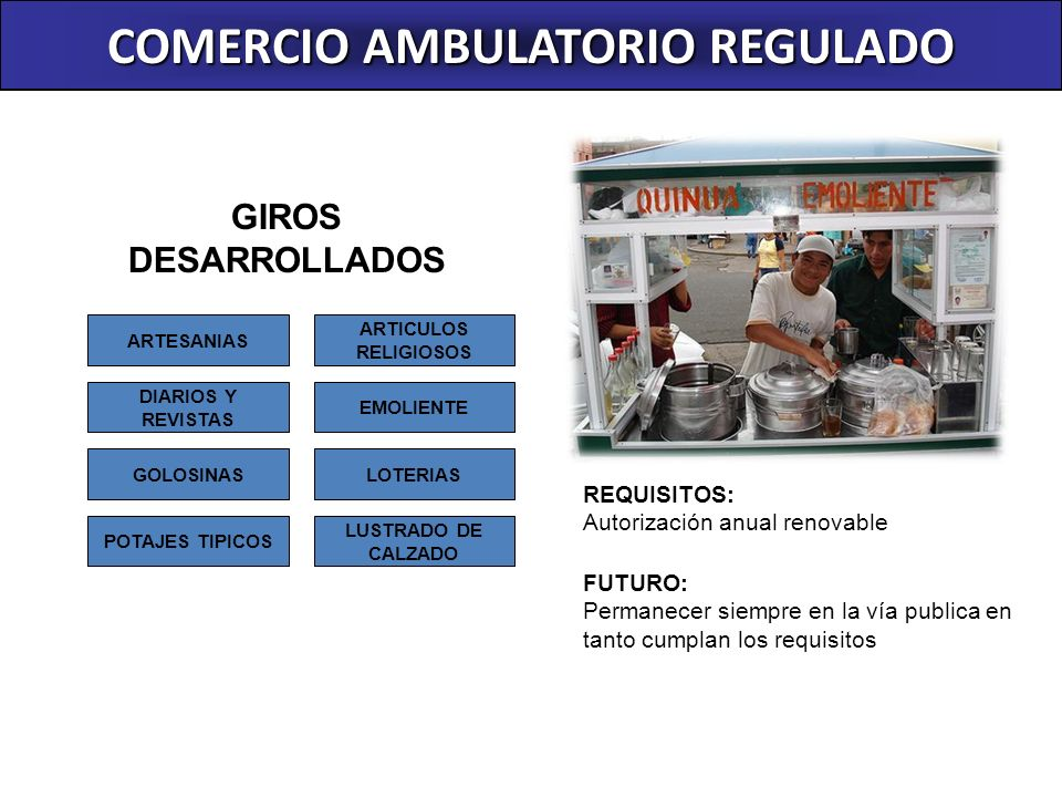 COMERCIO AMBULATORIO REGULADO