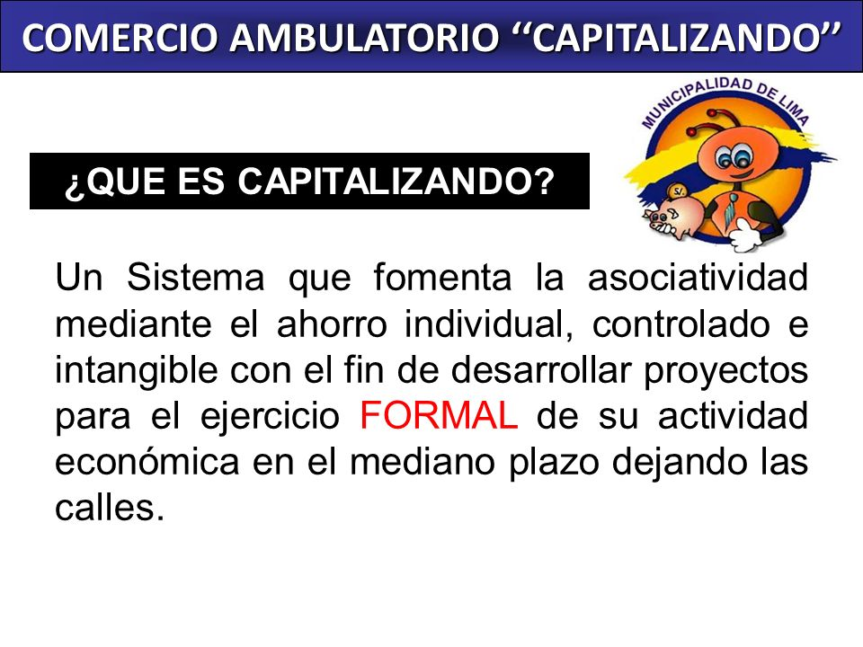 COMERCIO AMBULATORIO ''CAPITALIZANDO''