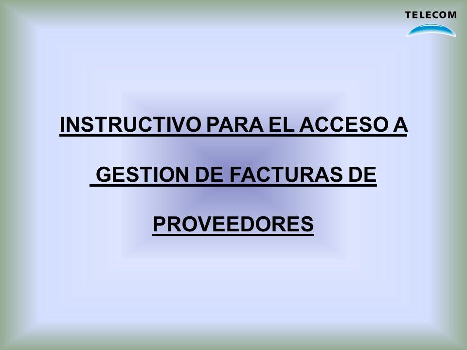 INSTRUCTIVO PARA EL ACCESO A