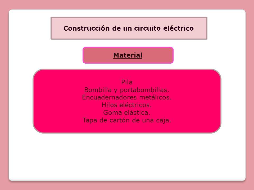 Construcción de un circuito eléctrico