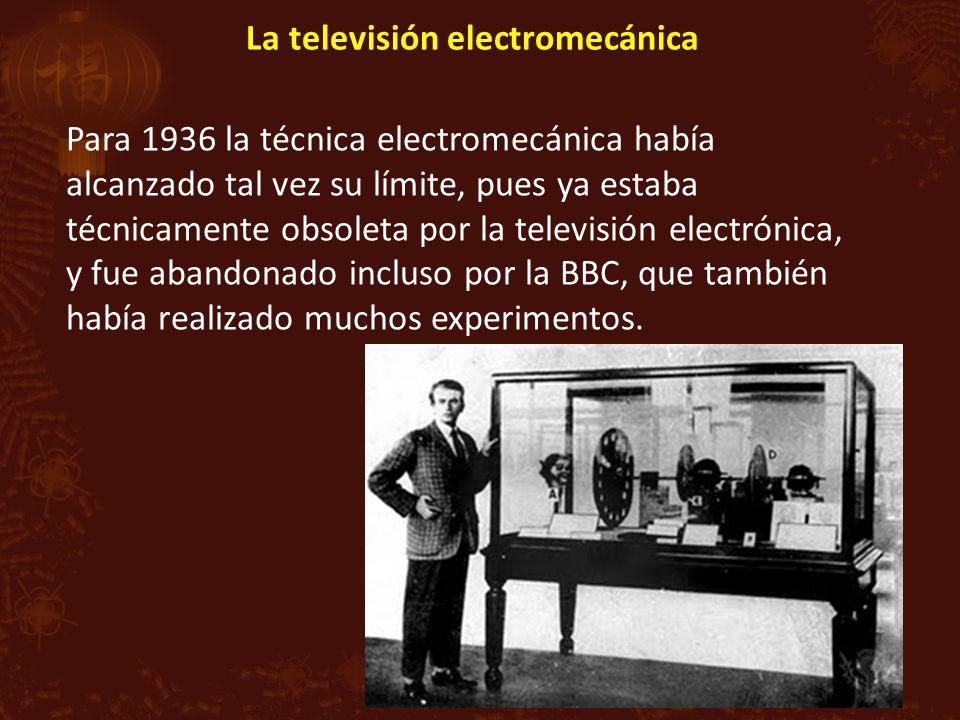 La televisión electromecánica