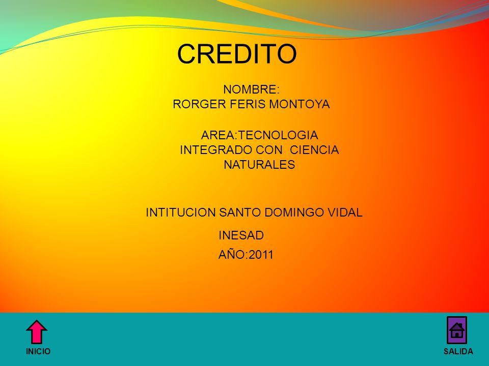 AREA:TECNOLOGIA INTEGRADO CON CIENCIA NATURALES