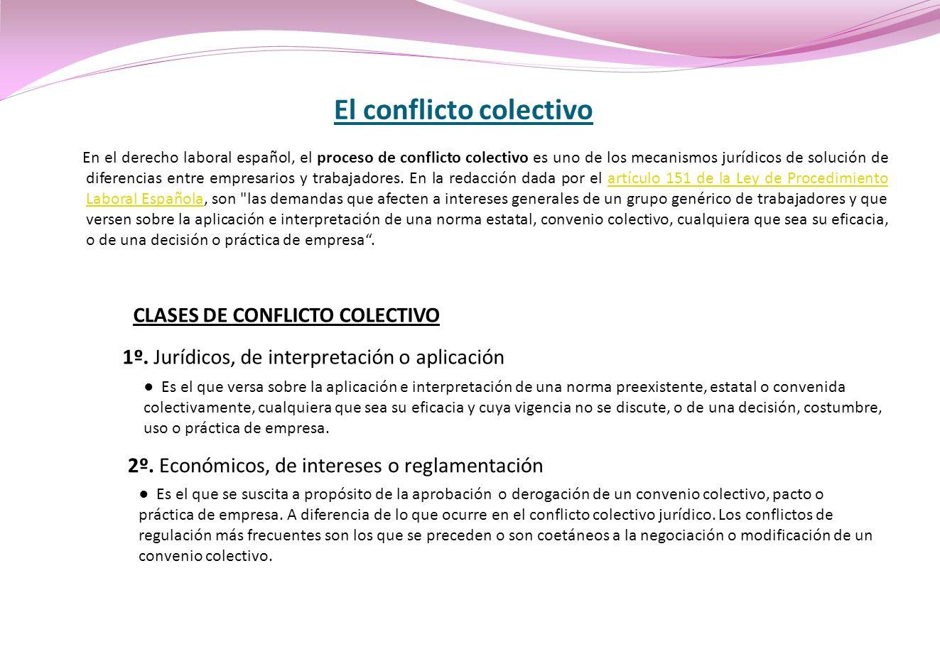 El conflicto colectivo