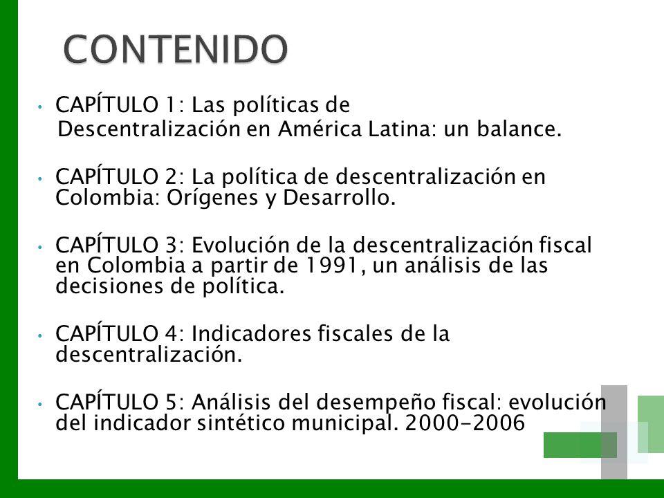 CONTENIDO CAPÍTULO 1: Las políticas de