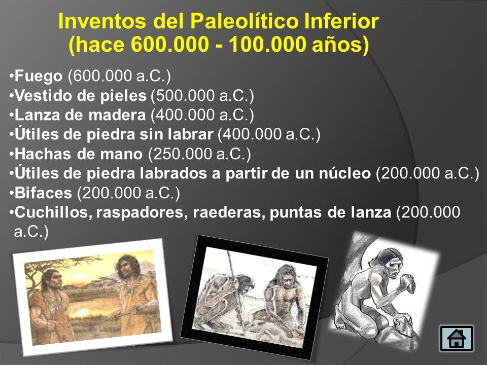 Inventos del Paleolítico Inferior