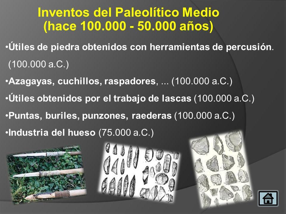 Inventos del Paleolítico Medio