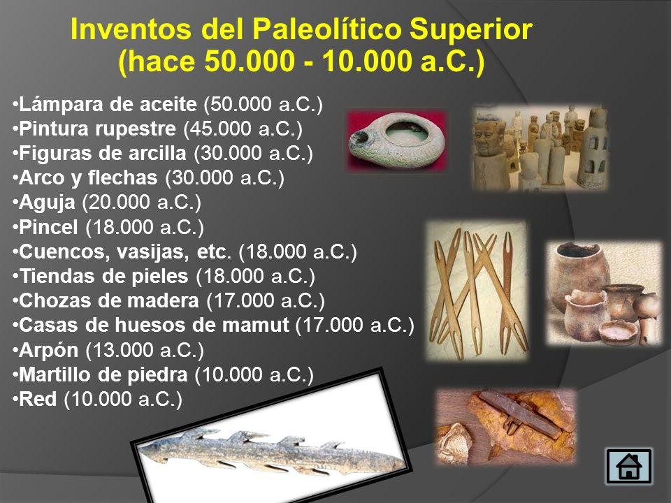 Inventos del Paleolítico Superior