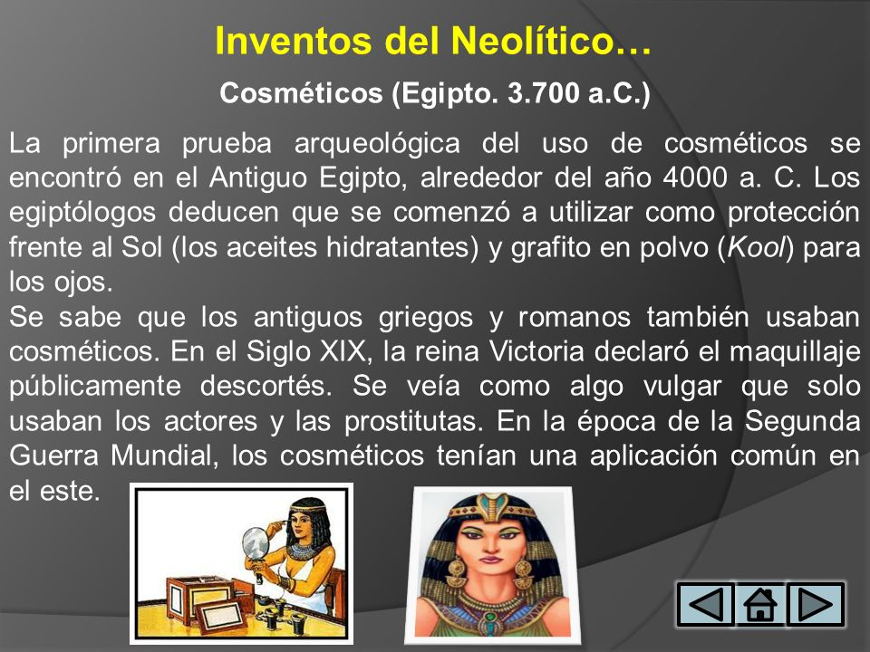 Inventos del Neolítico… Cosméticos (Egipto. 3.700 a.C.)