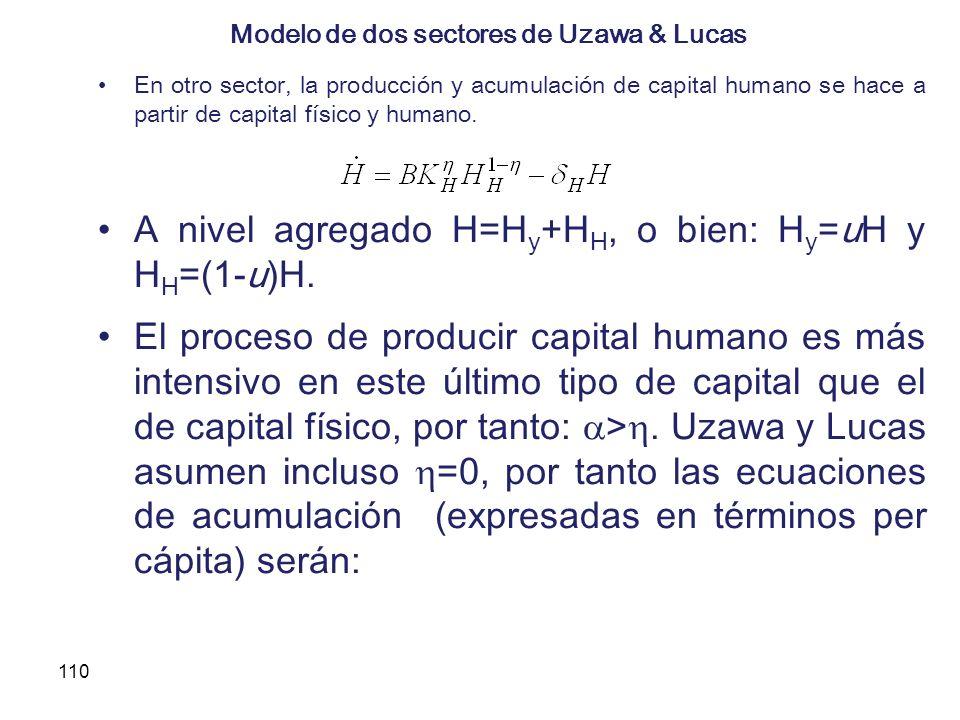 Modelo de dos sectores de Uzawa & Lucas