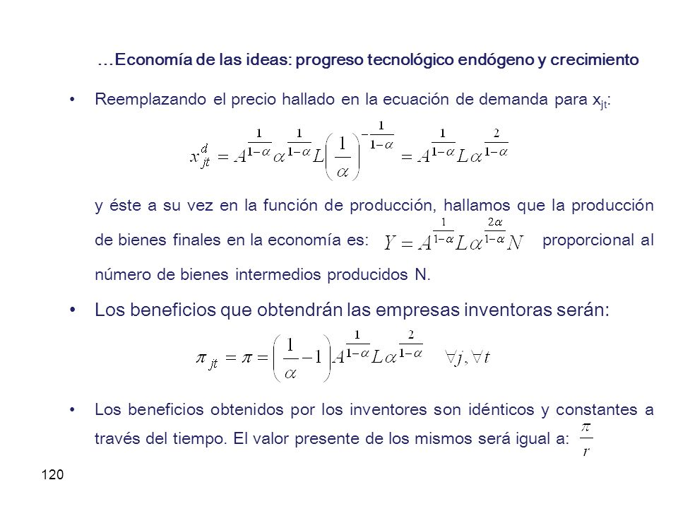 …Economía de las ideas: progreso tecnológico endógeno y crecimiento
