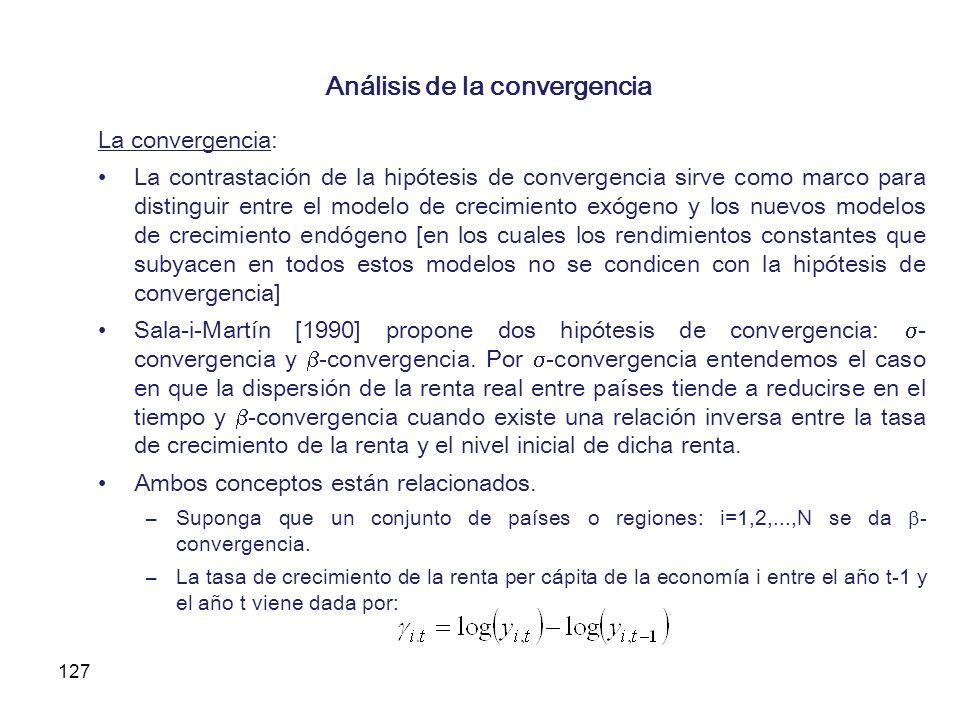 Análisis de la convergencia
