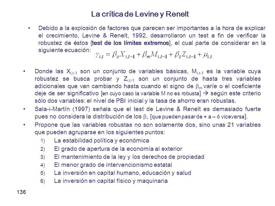 La crítica de Levine y Renelt