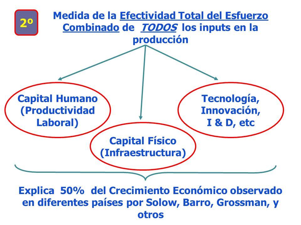 Medida de la Efectividad Total del Esfuerzo Combinado de TODOS los inputs en la producción