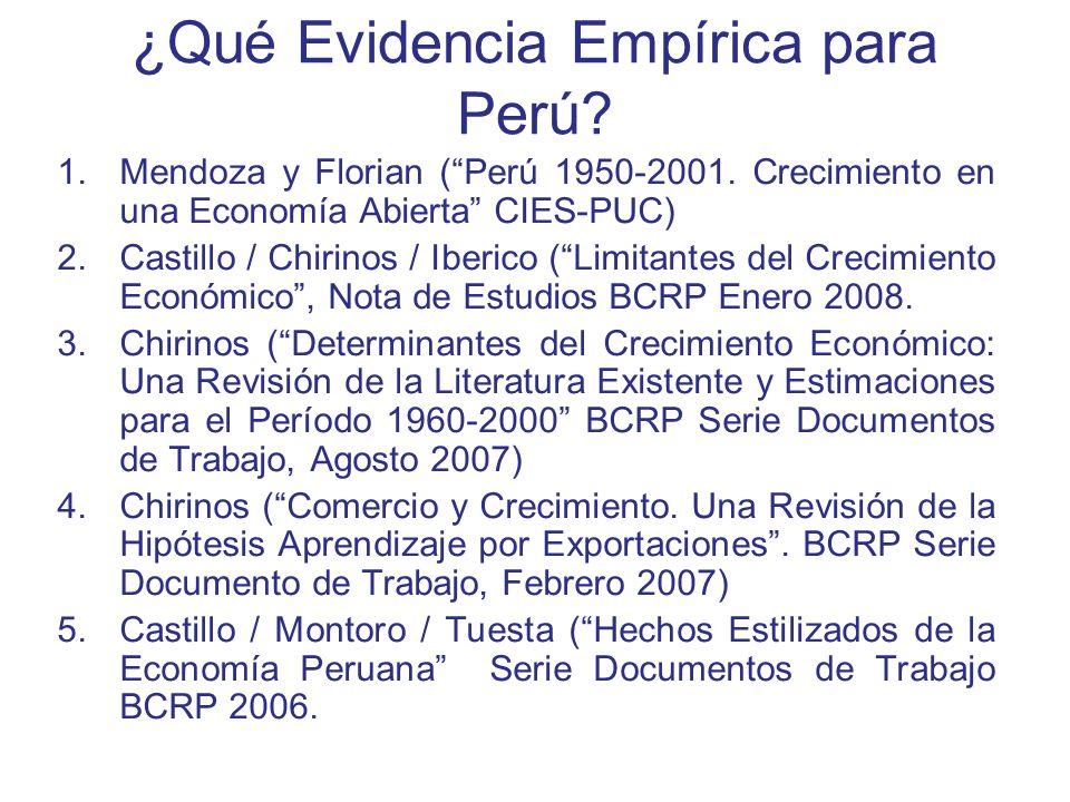 ¿Qué Evidencia Empírica para Perú