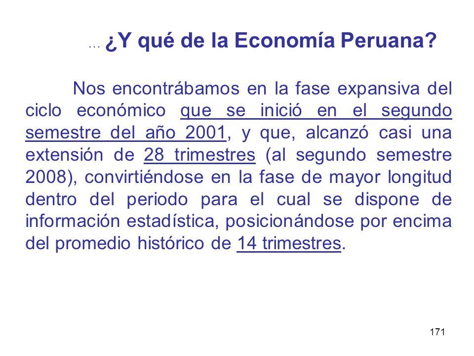 … ¿Y qué de la Economía Peruana