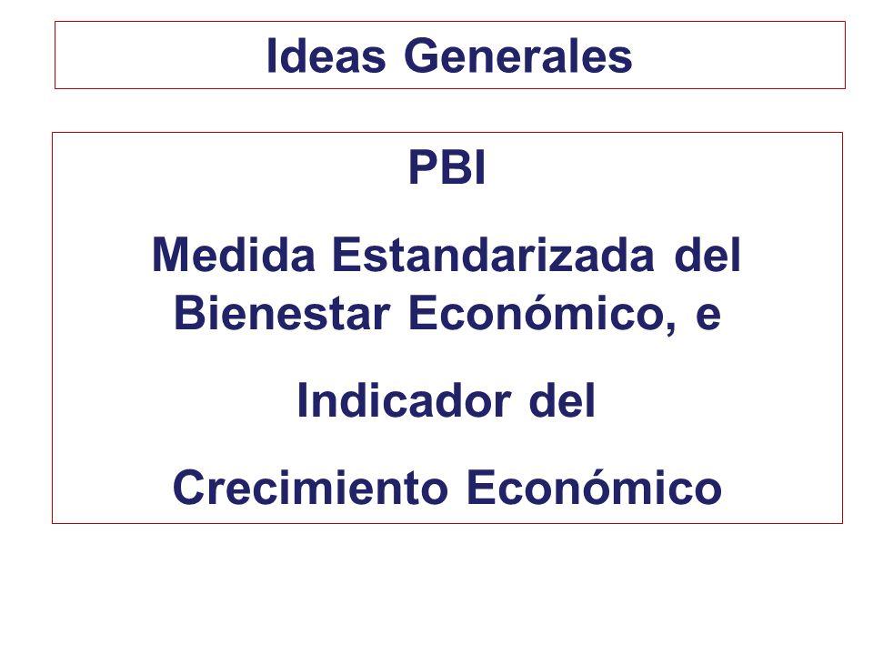Medida Estandarizada del Bienestar Económico, e Crecimiento Económico
