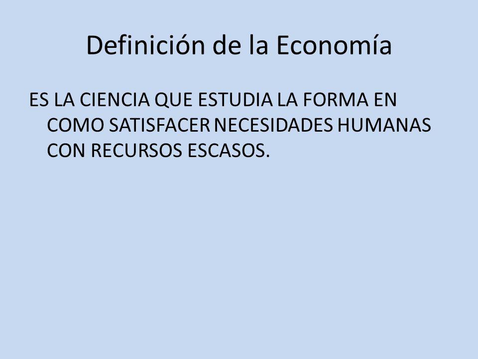Definición de la Economía
