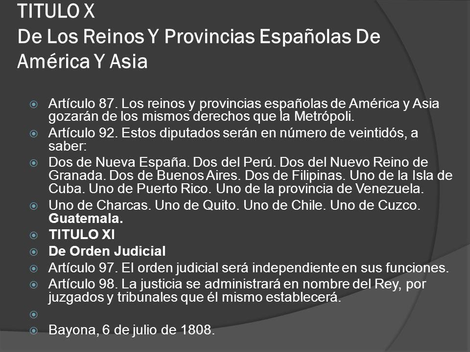 TITULO X De Los Reinos Y Provincias Españolas De América Y Asia