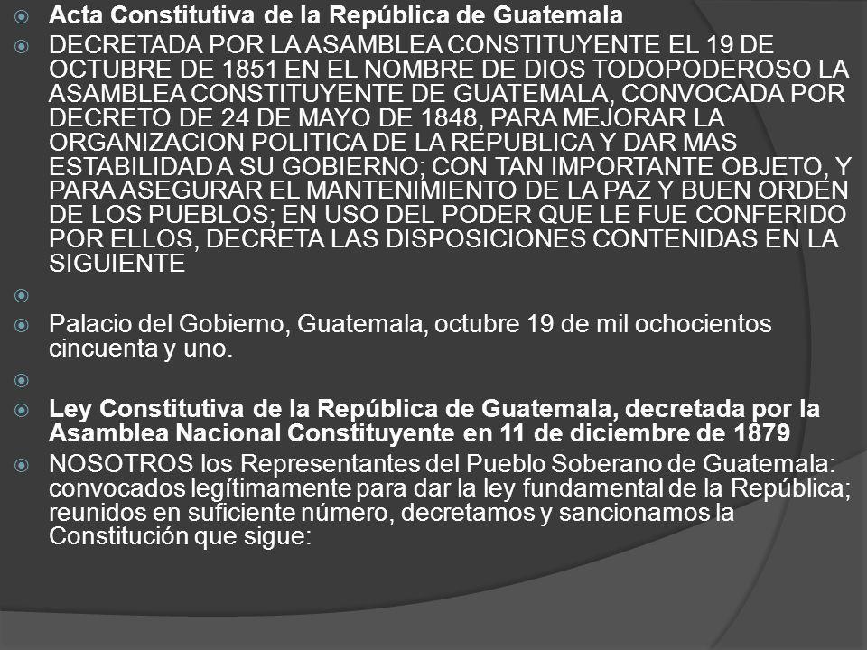 Acta Constitutiva de la República de Guatemala