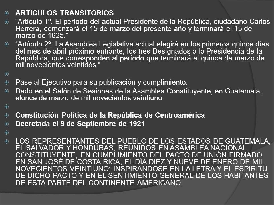 ARTICULOS TRANSITORIOS