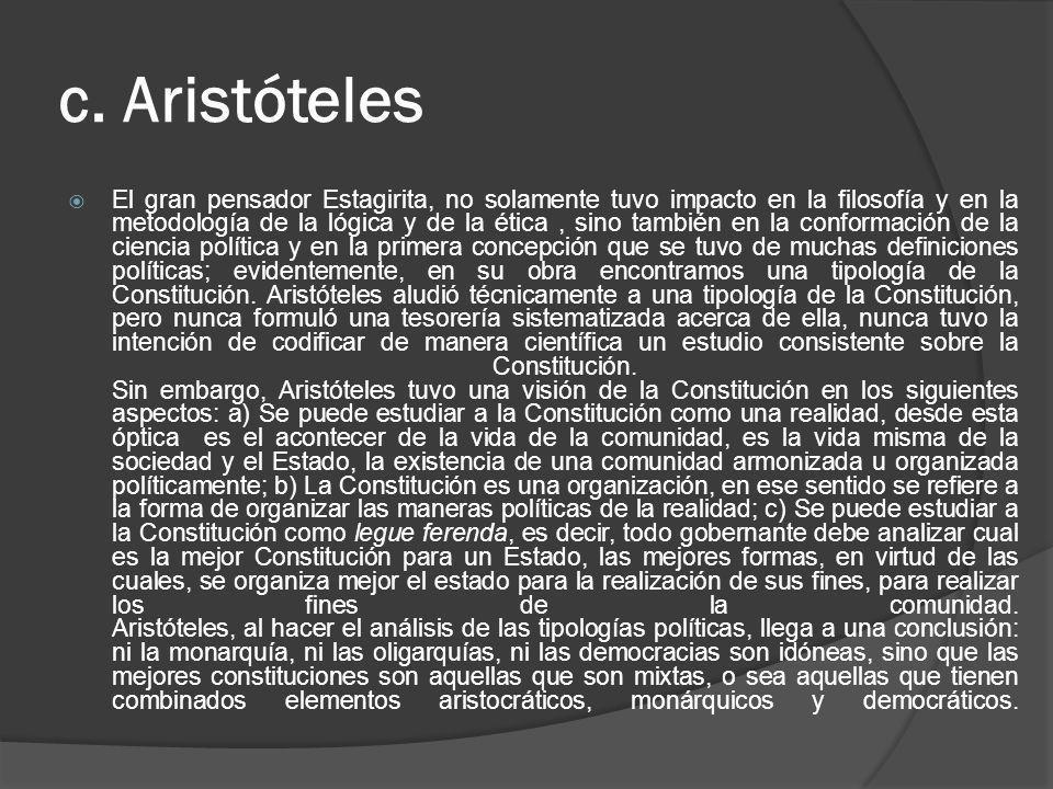 c. Aristóteles