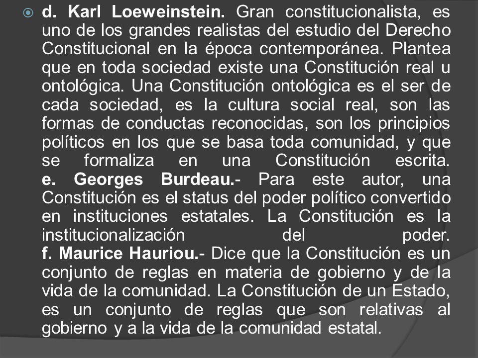 d. Karl Loeweinstein.