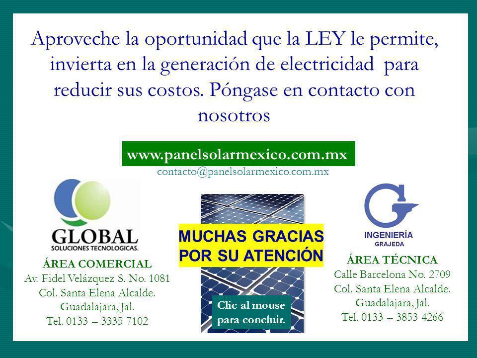 Aproveche la oportunidad que la LEY le permite, invierta en la generación de electricidad para reducir sus costos. Póngase en contacto con nosotros