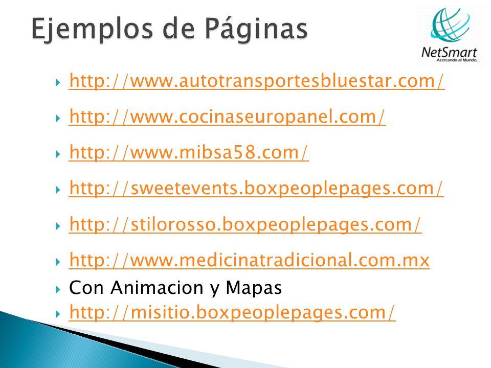 Ejemplos de Páginas http://www.autotransportesbluestar.com/