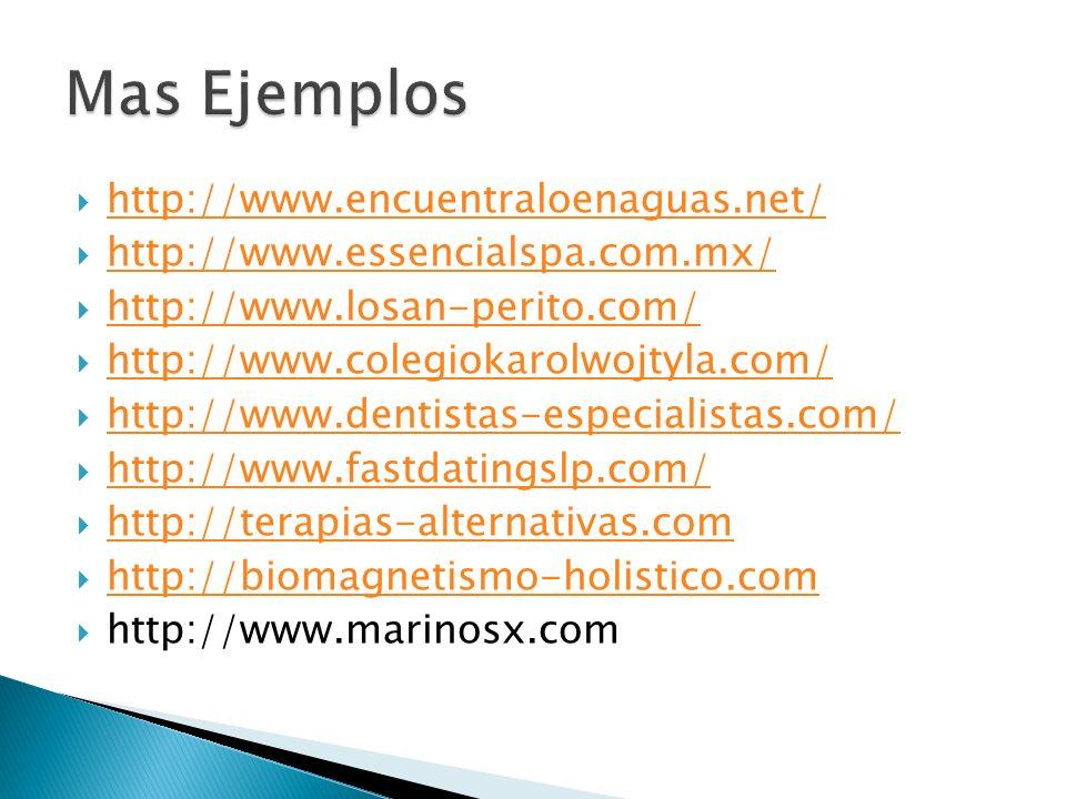 Mas Ejemplos http://www.encuentraloenaguas.net/