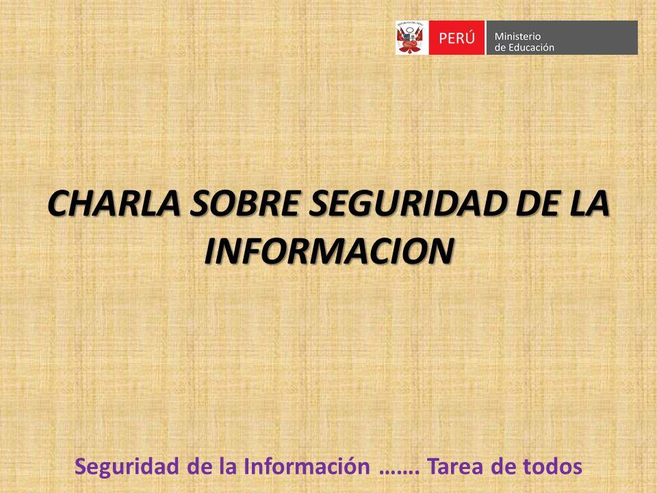 CHARLA SOBRE SEGURIDAD DE LA INFORMACION