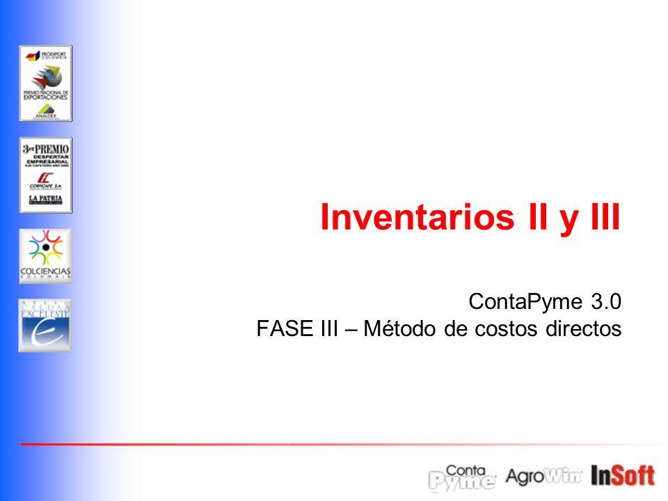 ContaPyme 3.0 FASE III – Método de costos directos