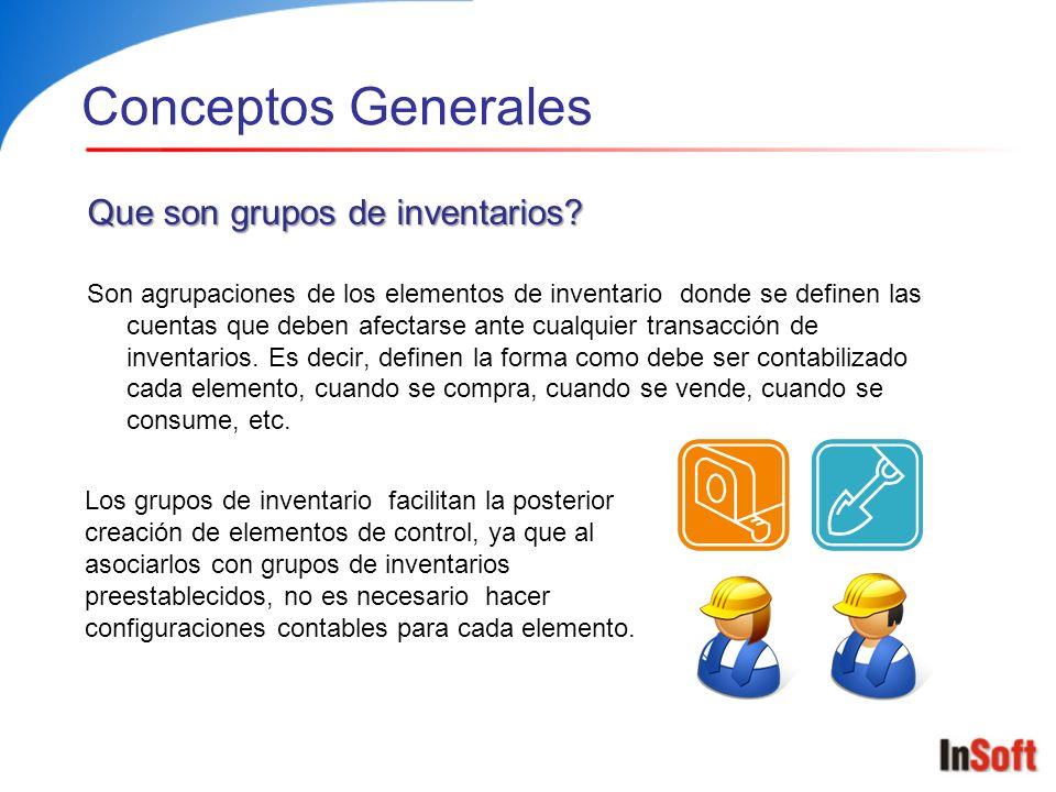 Conceptos Generales Que son grupos de inventarios